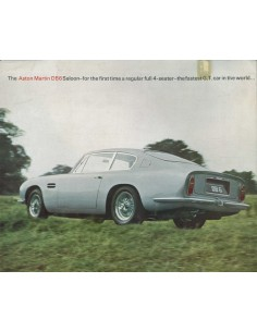 1966 ASTON MARTIN DB6 SALOON BROCHURE ENGLISH