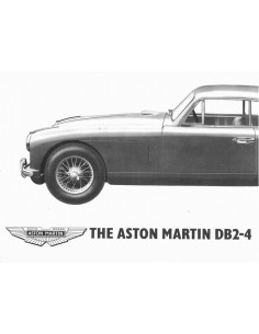 1953 ASTON MARTIN DB2-4 BROCHURE ENGLISH