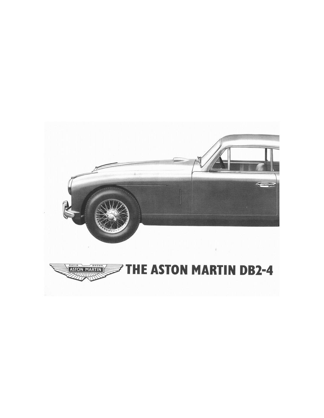 1953 Aston Martin Db2 4 Brochure English