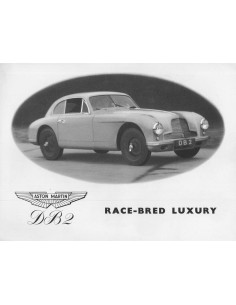1952 ASTON MARTIN DB2 BROCHURE ENGLISH