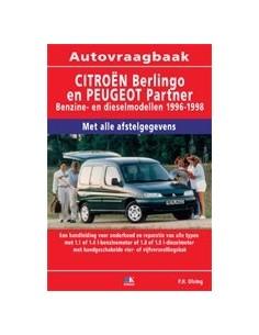 1996 - 1998 CITROËN BERLINGO / PEUGEOT PARTNER BENZINE / DIESEL VRAAGBAAK NEDERLANDS