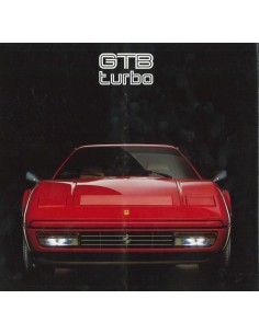 1986 FERRARI TURBO GTB BROCHURE 427/86