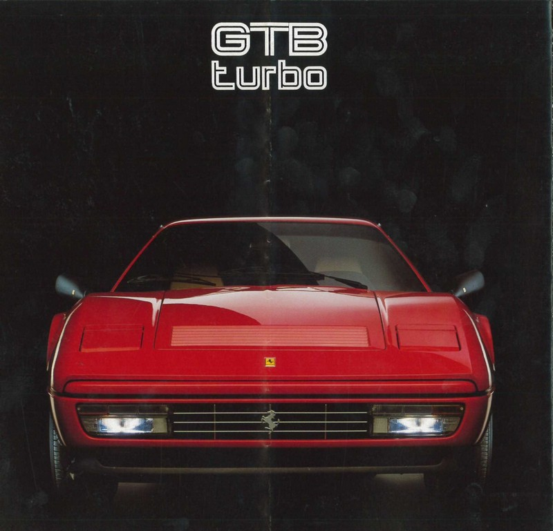 1986 FERRARI TURBO GTB BROCHURE 427/86