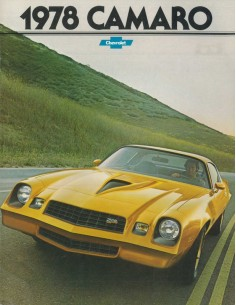 1978 CHEVROLET CAMARO BROCHURE ENGELS