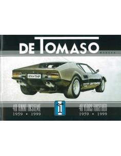 1959 - 1999 DE TOMASO BROCHURE ITALIAANS ENGELS