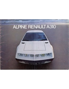 1976 ALPINE A310 INJECTION BROCHURE FRENCH