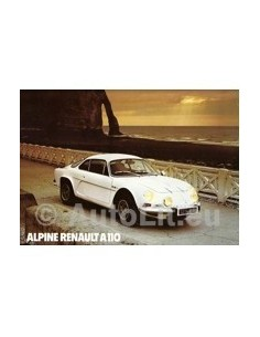 1976 ALPINE BERLINETTE BROCHURE FRENCH
