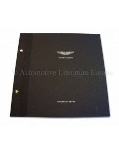 2001 ASTON MARTIN PERFORMANCE DRIING HARDCOVER BROCHURE ENGELS