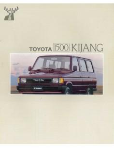 1988 TOYOTA 1500 KIJANG BROCHURE INDONESISCH ENGELS