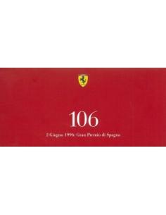 1996 FERRARi 106 GRAN PREMIO DI SPAGNA KAART