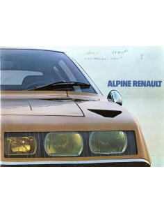 1973 ALPINE A310 INJECTION BROCHURE FRENCH