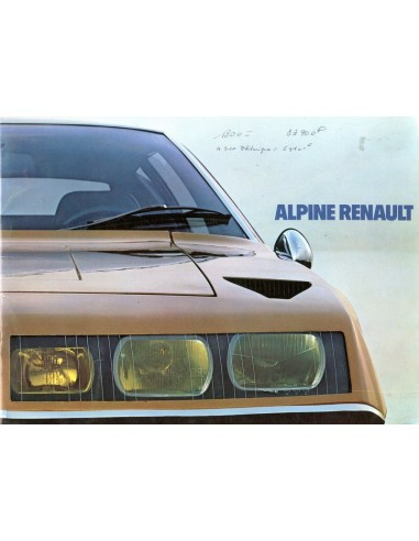 1973 ALPINE A310 INJECTION BROCHURE FRANS