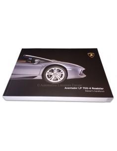 2014 LAMBORGHINI AVENTADOR LP 700-4 ROADSTER INSTRUCTIEBOEKJE ENGELS