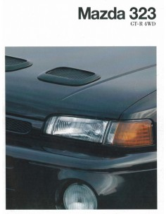 1992 MAZDA 323 GT-R 4WD BROCHURE DUITS