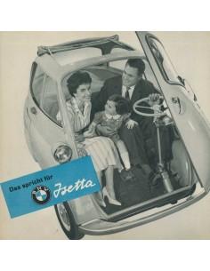 1958 BMW ISETTA BROCHURE DUITS