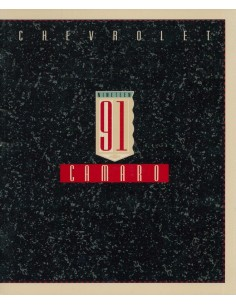 1991 CHEVROLET CAMARO BROCHURE ENGELS