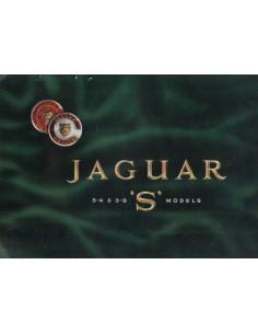 1965 JAGUAR 3.4 & 3.8 S MODELS BROCHURE ENGELS