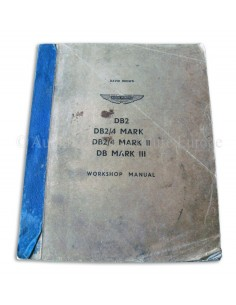 1958 ASTON MARTIN DB2 & DB2/4 MK I, II, III WERKPLAATSHANDBOEK ENGELS