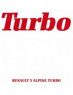 1980 RENAULT 5 ALPINE TURBO BROCHURE NEDERLANDS