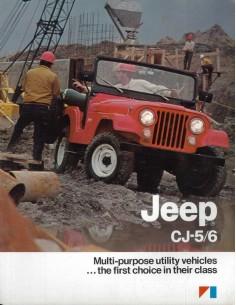1983 JEEP CJ-5 CJ-6 BROCHURE ENGELS USA