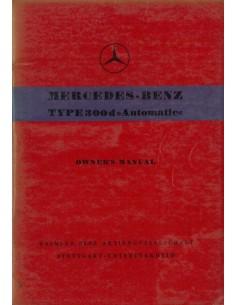 1958 MERCEDES BENZ 300 D AUTOMATIC INSTRUCTIEBOEKJE ENGELS