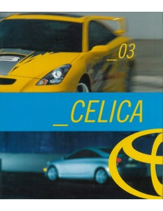 2003 TOYOTA CELICA BROCHURE ENGELS (USA)