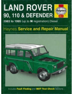 1983 - 1995 LAND ROVER 90 110 & DEFENDER HAYNES WERKPLAATSHANDBOEK ENGELS