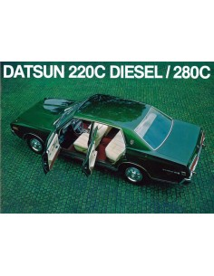 1975 DATSUN 220C DIESEL 280C BROCHURE NEDERLANDS