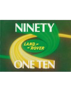 1987 LAND ROVER 90 110 INSTRUCTIEBOEKJE DUITS