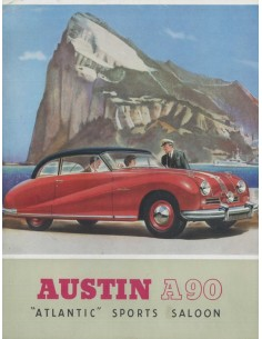 1957 AUSTIN A90 ATLANTIC SPORTS SALOON BROCHURE ENGELS