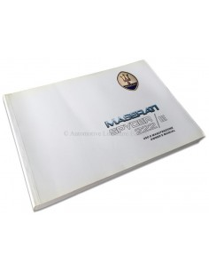 1989 MASERATI 222 SPYDER E INSTRUCTIEBOEK ITALIAANS ENGELS