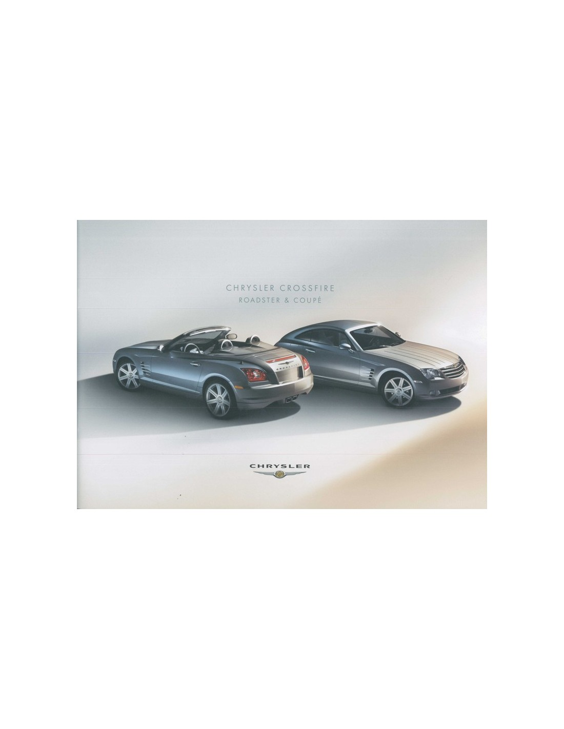 2004 CHRYSLER CROSSFIRE ROADSTER & COUPE BROCHURE GERMAN