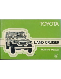 1978 TOYOTA LANDCRUISER INSTRUCTIEBOEKJE ENGELS