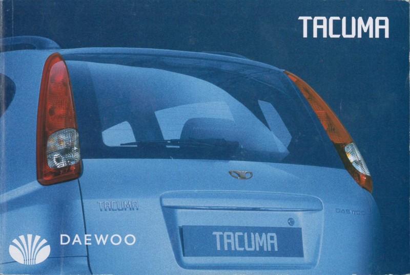 2002 daewoo tacuma owner 39 s manual dutch. Black Bedroom Furniture Sets. Home Design Ideas