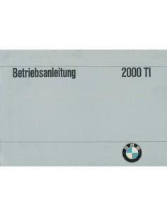 1967 BMW 2000 TI INSTRUCTIEBOEKJE DUITS