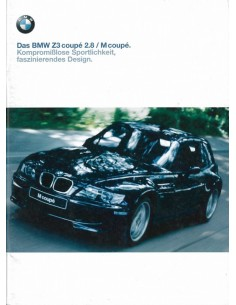 1999 BMW Z3 ROADSTER / M COUPE BROCHURE DUITS
