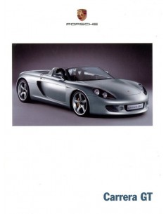 2000 PORSCHE CARRERA GT BROCHURE GERMAN ENGLISH