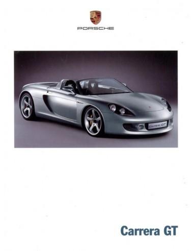 2000 PORSCHE CARRERA GT BROCHURE DUITS ENGELS