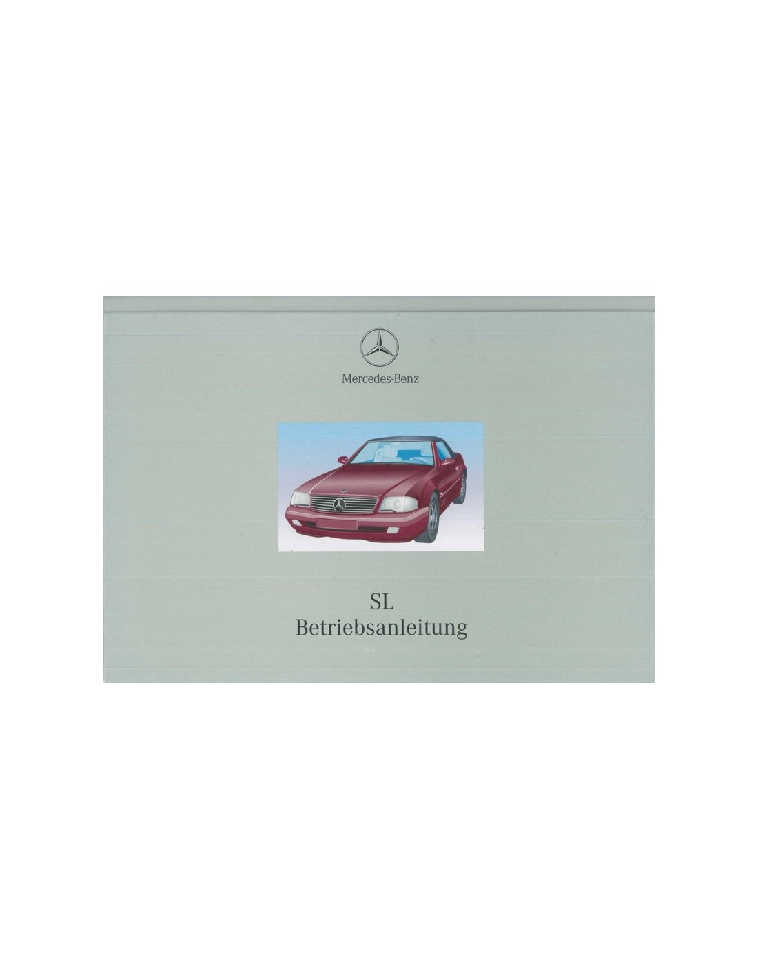 1999 mercedes benz sl class owners manual handbook deutsch for 2003 mercedes benz sl500 owners manual