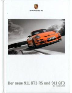 2007 PORSCHE 911 GT3 + RS HARDCOVER BROCHURE GERMAN