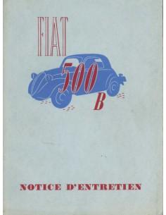 1948 FIAT 500 B INSTRUCTIEBOEKJE FRANS