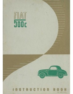 1951 FIAT 500 C INSTRUCTIEBOEKJE ENGELS