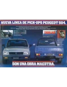1994 PEUGEOT 504 PICK-UP LEAFLET SPAANS