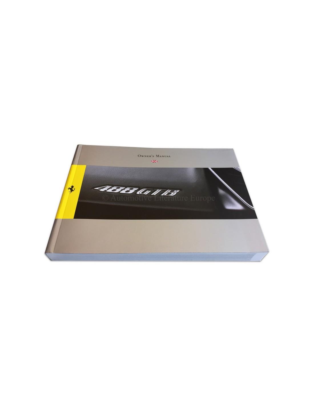 Ferrari Repair Manuals: 2015 FERRARI 488 GTB OWNERS MANUAL ENGLISH