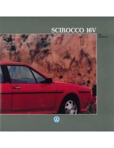 1988 VOLKSWAGEN SCIROCCO 16V BROCHURE ENGELS USA