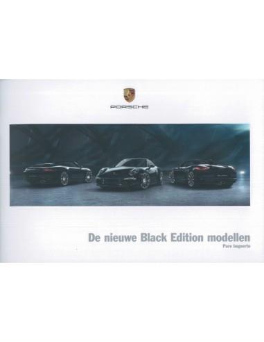 2016 porsche 911 carrera boxster black edition brochure nederlands. Black Bedroom Furniture Sets. Home Design Ideas
