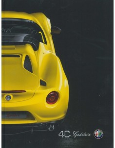 2015 ALFA ROMEO 4C SPIDER HARDCOVER BROCHURE DUTCH