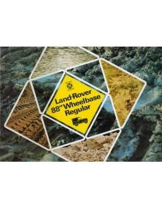 1974 LAND ROVER 88 WHEELBASE REGULAR  BROCHURE ENGELS
