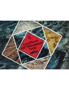 1974 LAND ROVER 109 WHEELBASE REGULAR BROCHURE ENGELS