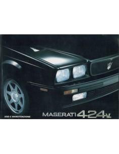 1990 MASERATI 4.24V. INSTRUCTIEBOEKJE ITALIAANS